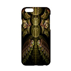 Fractal Abstract Patterns Gold Apple iPhone 6/6S Hardshell Case