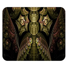 Fractal Abstract Patterns Gold Double Sided Flano Blanket (Small)