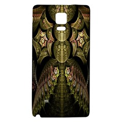 Fractal Abstract Patterns Gold Galaxy Note 4 Back Case