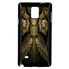 Fractal Abstract Patterns Gold Samsung Galaxy Note 4 Case (Black)
