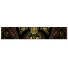 Fractal Abstract Patterns Gold Flano Scarf (Large)