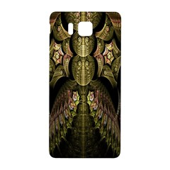 Fractal Abstract Patterns Gold Samsung Galaxy Alpha Hardshell Back Case