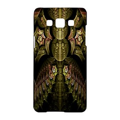 Fractal Abstract Patterns Gold Samsung Galaxy A5 Hardshell Case