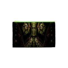 Fractal Abstract Patterns Gold Cosmetic Bag (xs)