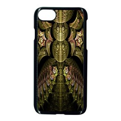 Fractal Abstract Patterns Gold Apple Iphone 7 Seamless Case (black)