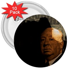 Alfred Hitchcock - Psycho  3  Buttons (10 pack)