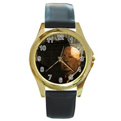 Alfred Hitchcock - Psycho  Round Gold Metal Watch