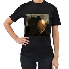 Alfred Hitchcock - Psycho  Women s T-Shirt (Black) (Two Sided)