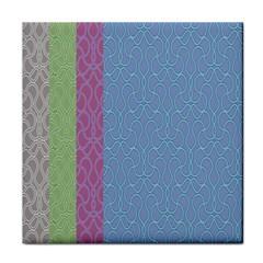 Fine Line Pattern Background Vector Tile Coasters