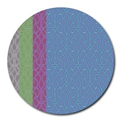 Fine Line Pattern Background Vector Round Mousepads
