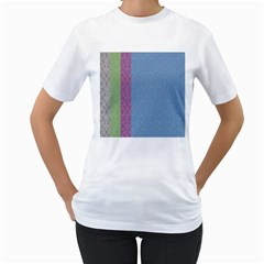 Fine Line Pattern Background Vector Women s T Shirt (white) (two Sided)