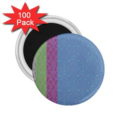 Fine Line Pattern Background Vector 2 25  Magnets (100 Pack)