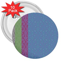 Fine Line Pattern Background Vector 3  Buttons (10 pack)