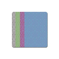 Fine Line Pattern Background Vector Square Magnet