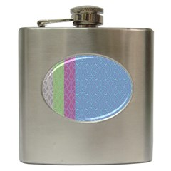 Fine Line Pattern Background Vector Hip Flask (6 oz)