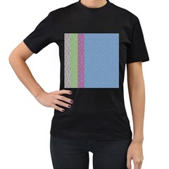 Fine Line Pattern Background Vector Women s T Shirt (black) (two Sided)