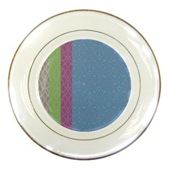 Fine Line Pattern Background Vector Porcelain Plates