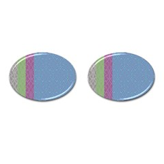 Fine Line Pattern Background Vector Cufflinks (oval)