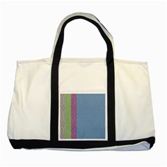 Fine Line Pattern Background Vector Two Tone Tote Bag