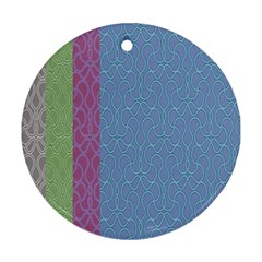 Fine Line Pattern Background Vector Round Ornament (Two Sides)