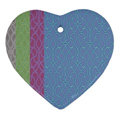 Fine Line Pattern Background Vector Heart Ornament (Two Sides)
