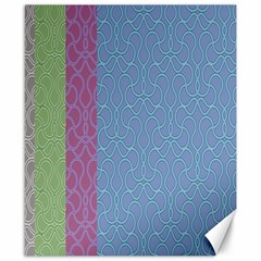 Fine Line Pattern Background Vector Canvas 8  X 10
