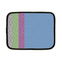 Fine Line Pattern Background Vector Netbook Case (Small)