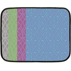 Fine Line Pattern Background Vector Double Sided Fleece Blanket (Mini)