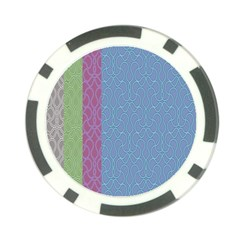 Fine Line Pattern Background Vector Poker Chip Card Guard (10 pack)
