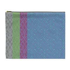 Fine Line Pattern Background Vector Cosmetic Bag (xl)
