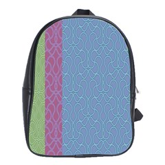 Fine Line Pattern Background Vector School Bags(Large)