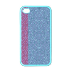 Fine Line Pattern Background Vector Apple iPhone 4 Case (Color)