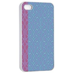 Fine Line Pattern Background Vector Apple iPhone 4/4s Seamless Case (White)