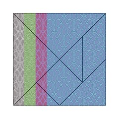 Fine Line Pattern Background Vector Acrylic Tangram Puzzle (6  x 6 )