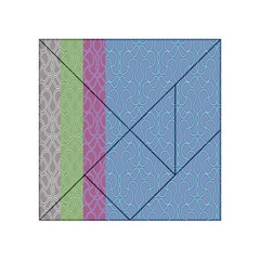 Fine Line Pattern Background Vector Acrylic Tangram Puzzle (4  x 4 )