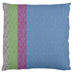 Fine Line Pattern Background Vector Large Cushion Case (One Side)