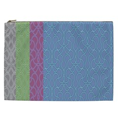 Fine Line Pattern Background Vector Cosmetic Bag (XXL)