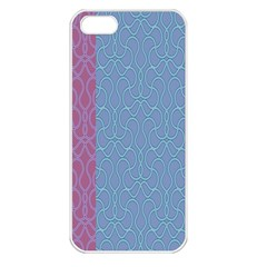 Fine Line Pattern Background Vector Apple iPhone 5 Seamless Case (White)