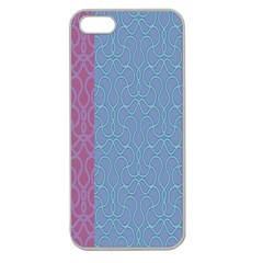 Fine Line Pattern Background Vector Apple Seamless iPhone 5 Case (Clear)
