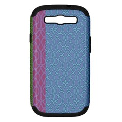 Fine Line Pattern Background Vector Samsung Galaxy S III Hardshell Case (PC+Silicone)