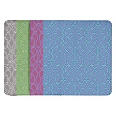 Fine Line Pattern Background Vector Samsung Galaxy Tab 8.9  P7300 Flip Case