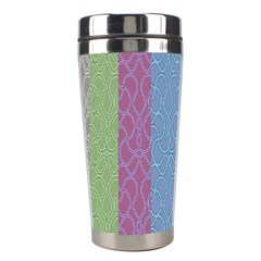 Fine Line Pattern Background Vector Stainless Steel Travel Tumblers