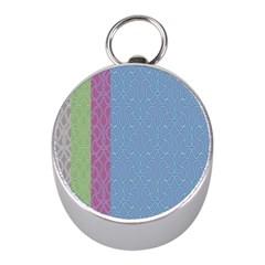 Fine Line Pattern Background Vector Mini Silver Compasses