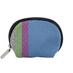 Fine Line Pattern Background Vector Accessory Pouches (Small)