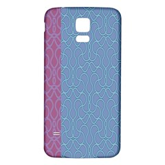 Fine Line Pattern Background Vector Samsung Galaxy S5 Back Case (White)