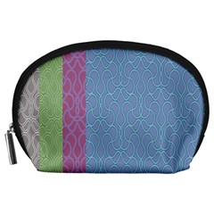 Fine Line Pattern Background Vector Accessory Pouches (Large)