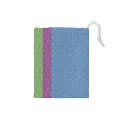 Fine Line Pattern Background Vector Drawstring Pouches (Small)