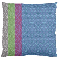 Fine Line Pattern Background Vector Large Flano Cushion Case (One Side)