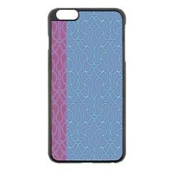 Fine Line Pattern Background Vector Apple iPhone 6 Plus/6S Plus Black Enamel Case