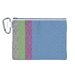 Fine Line Pattern Background Vector Canvas Cosmetic Bag (L)